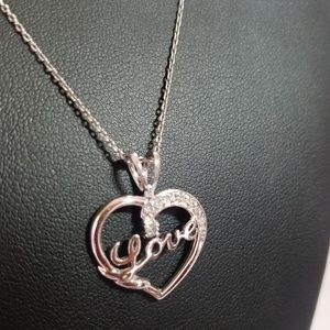 925 Silver Chain with 925 Silver Pendant NWOT